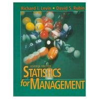 9780134762920: Statistics for Management (7th Edition)