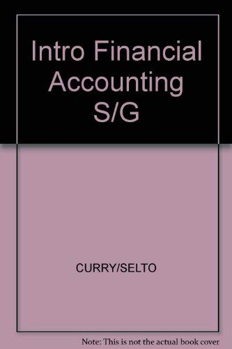 9780134769530: Intro Financial Accounting S/G
