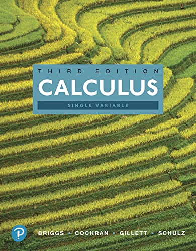 9780134769783: Calculus, Single Variable (3rd Edition)
