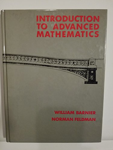 9780134770840: Introduction to Advanced Mathematics
