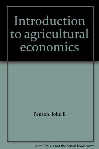 9780134777122: Introduction to agricultural economics