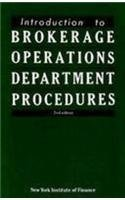 9780134789750: Introduction to Brokerage Operations Department Procedures