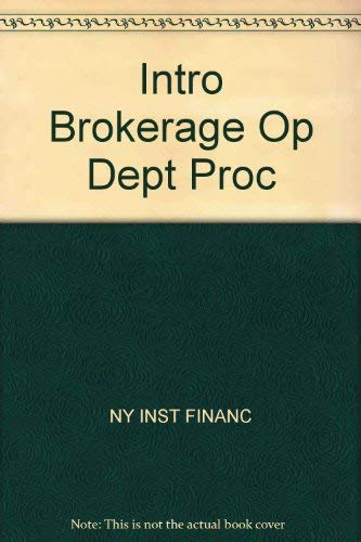 9780134789828: Intro Brokerage Op Dept Proc