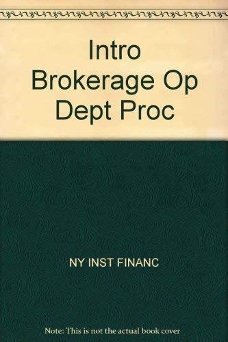 9780134789828: Intro Brokerage Op Dept Proc