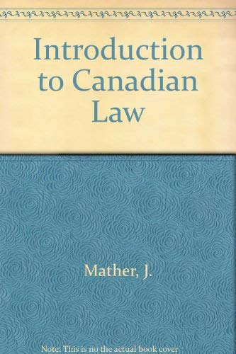 Introduction to Canadian Law: Sherrie Barnhorst