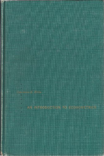 An Introduction to Econometrics: Klein, Lawrence R.