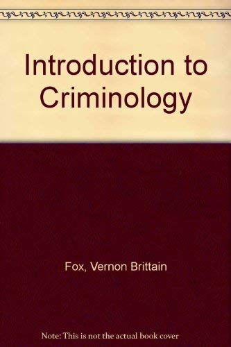 9780134800530: Introduction to Criminology