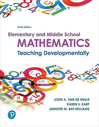 9780134802084: Elementary and Middle School Mathematics: Teaching Developmentally