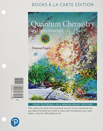 9780134813943: Physical Chemistry Quantum Chemistry and Spectroscopy