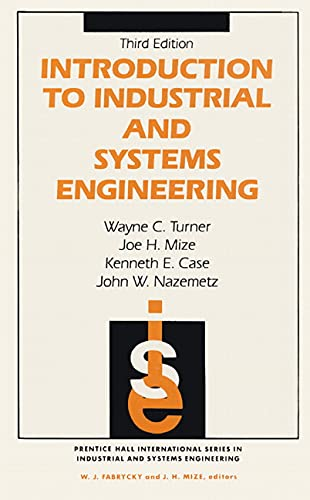 Introduction To Industrial And Systems Engineering (3rd