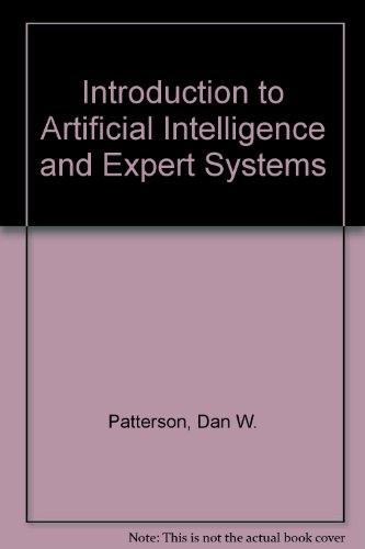9780134829289: Introduction to Artificial Intelligence and Expert Systems