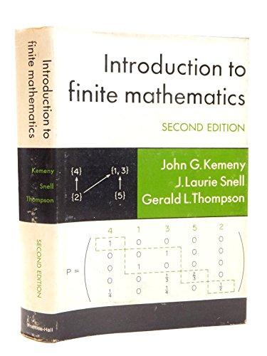 9780134837925: Introduction to Finite Mathematics