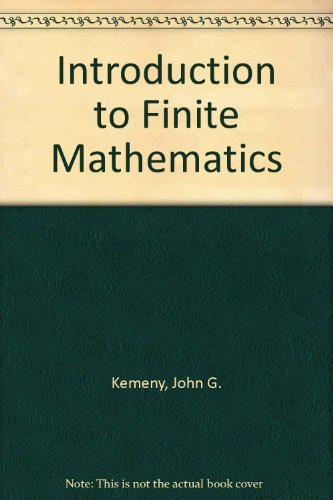 9780134838342: Introduction to Finite Mathematics