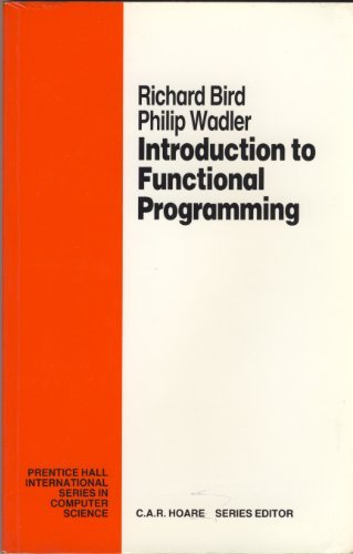 9780134841977: An Introduction to Functional Programming (Prentice Hall International Series in Computing Science)