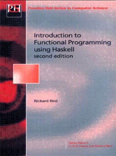 9780134843469: Introduction Functional Programming (Prentice-Hall Series in Computer Science)