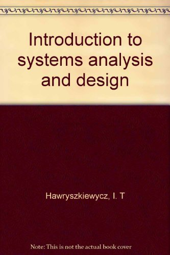 9780134845852: Introduction to systems analysis and design