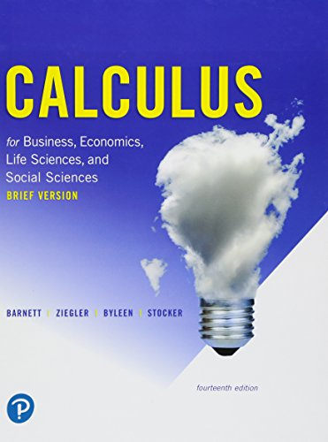 9780134851990: Calculus for Business, Economics, Life Sciences, and Social Sciences, Brief Version (14th Edition)