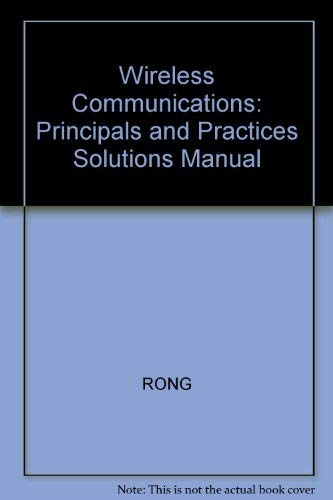 9780134852027: Wireless Communications: Principals and Practices Solutions Manual