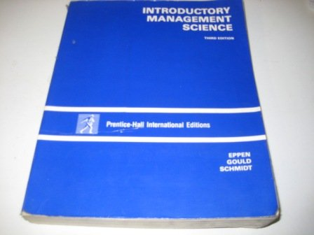 9780134859392: Introductory Management Science