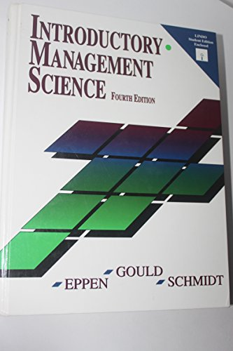 Introductory Management Science: F. J. Gould,