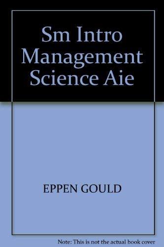 9780134864815: Sm Intro Management Science Aie
