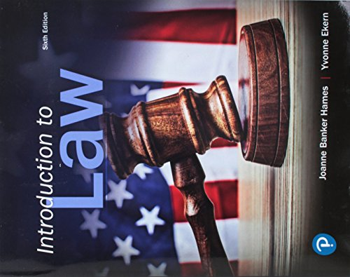 9780134868240: Introduction to Law (6th Edition)