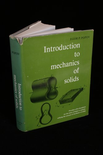9780134877693: Introduction to the Mechanics of Solids
