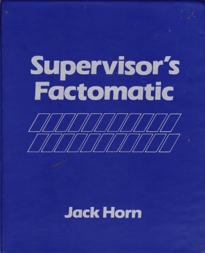 9780134897745: Supervisor's Factomatic