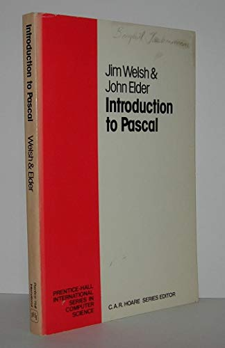 9780134915227: Introduction to PASCAL (Prentice-Hall International series in computer science)