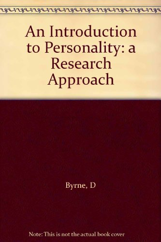9780134915890: An Introduction to Personality: a Research Approach