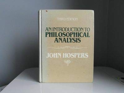 9780134916972: An Introduction to Philosophical Analysis