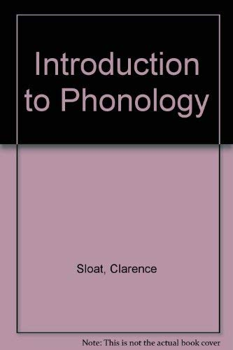Introduction to Phonology.