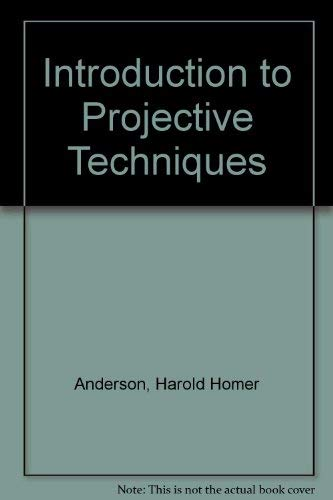 9780134930985: An introduction To Projective Techniques