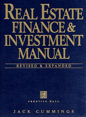 9780134933962: Real Estate Finance and Investment Manual