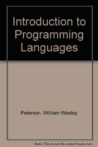 9780134934860: Introduction to Programming Languages