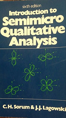 9780134960678: Introduction to Semimicro Qualitative Analysis