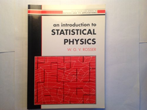 9780134969282: Introduction to Statistical Physics (Ellis Horwood Series in Mathematics & Its Applications)