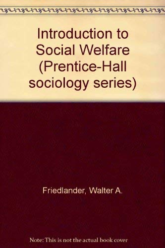 9780134970165: Introduction to Social Welfare (Prentice-Hall sociology series)