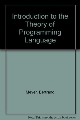 9780134985022: Introduction to the Theory of Programming Language