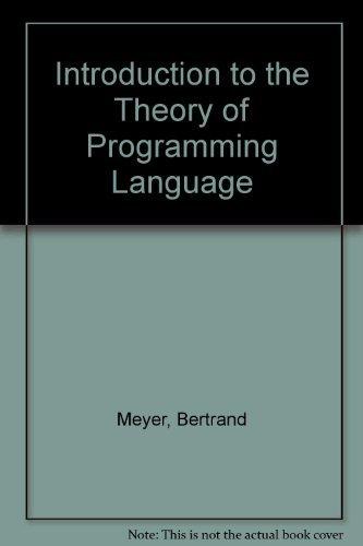 9780134985022: Introduction to the Theory of Programming Language (English Language Teaching)