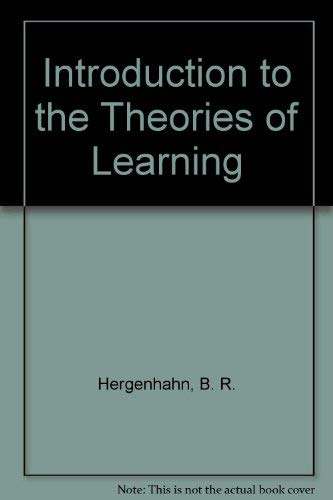 9780134987255: Introduction to the Theories of Learning