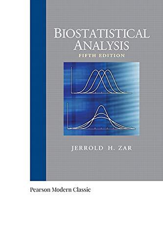 9780134995441: Biostatistical Analysis (Classic Version) (5th Edition) (Pearson Modern Classics for Advanced Statistics Series)