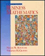 9780135000007: Business Mathematics: A Collegiate Approach