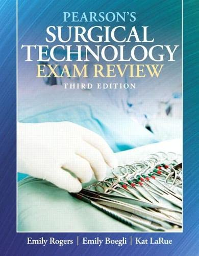 9780135000489: Pearson's Surgical Technology Exam Review