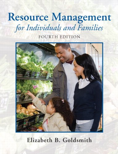 9780135001301: Resource Management for Individuals and Families (4th Edition)