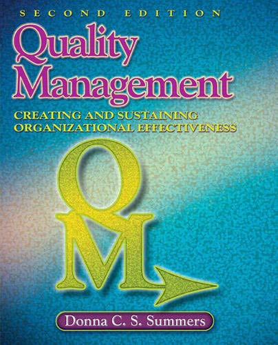 Quality Management (2nd Edition): Summers, Donna C.