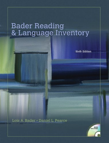 9780135005538: Bader Reading & Language Inventory (6th Edition)