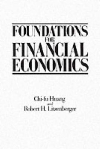 9780135006535: Foundations for Financial Economics
