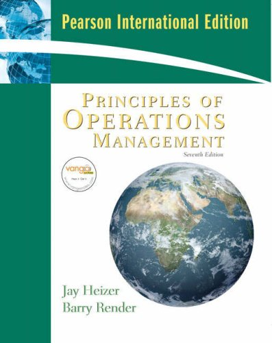 9780135007099: Principles of Operations Management