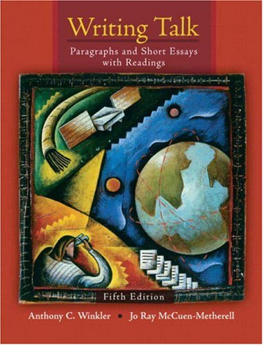 9780135008775: Writing Talk: Paragraphs and Short Essays with Readings
